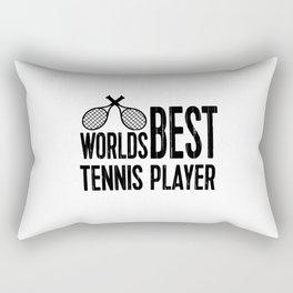Worlds Best Tennis Player | Sports Gift Idea Rectangular Pillow