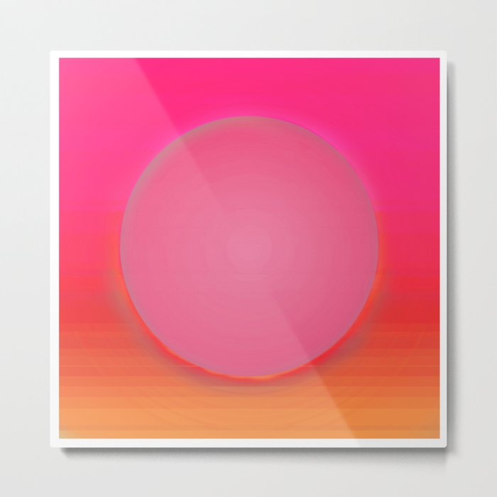 Magma Bubble Gum Metal Print