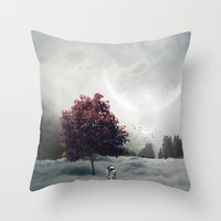 r2d2 Throw Pillows featuring R2D2 by Naelito