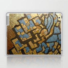 Gold cubic Eiffel tower close up Laptop & iPad Skin