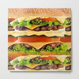 Burger Me! Metal Print
