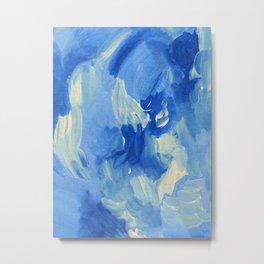 Bluejay Abstract Metal Print