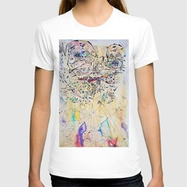 Face in lines T-shirt