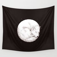 howl Wall Tapestries featuring The Howl of the Moon by Daniel Teixeira