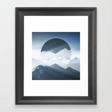 High mountain in morning time Framed Art Print