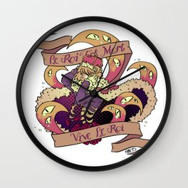 Le Roi Est Mort Wall Clock