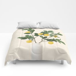 Lemon Branches II Comforters