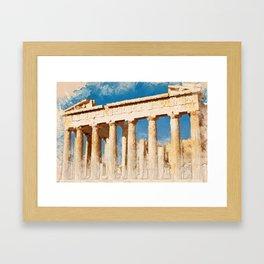 Acropolis Of Athens Framed Art Print