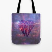 diamond Tote Bags featuring Diamond by eARTh