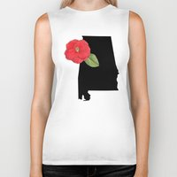 alabama Biker Tanks featuring Alabama Silhouette by Ursula Rodgers