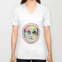 larry V-neck T-shirts featuring Larry David by Butt Ugly Co