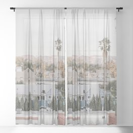 Hollywood California Sheer Curtain