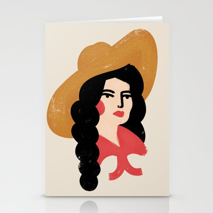 Abstract Cowgirl Stationery Cards