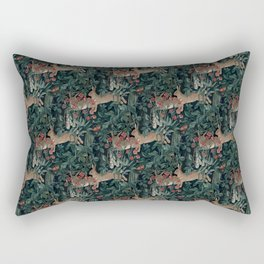 Bunny medieval tapestry Rectangular Pillow