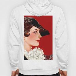 Art Deco Red Hoody