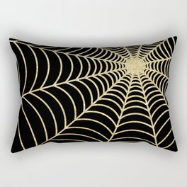 Spiderweb | Gold Glitter Rectangular Pillow