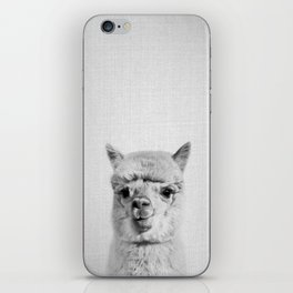 Alpaca - Black & White iPhone Skin