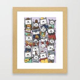 CATS'N'BATS Framed Art Print
