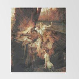 Mourning for Icarus - Draper Herbert James Throw Blanket