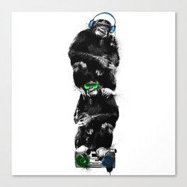 Monkey Music Retro Boombox. Canvas Print