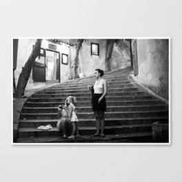 girls in cefalu Canvas Print