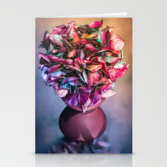 STILL LIFE WITH HYDRANGEA IN A VASE Stationery Cards