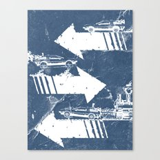 Back to the Future Minimalist Poster Canvas Print