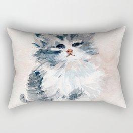 Kitten Portrait Rectangular Pillow