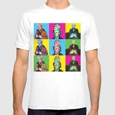 ANDY POP ART Mens Fitted Tee MEDIUM White