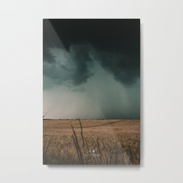 See the Rain falling Metal Print