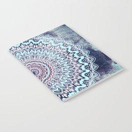 BLUE AUTUMN BOHO MANDALA Notebook