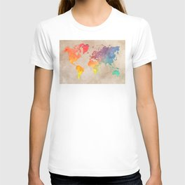 World Map Maps #map #maps #world T-shirt