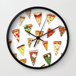 Pizza Pattern Wall Clock