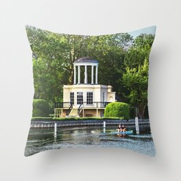 Rowing Past Temple Island Throw Pillow