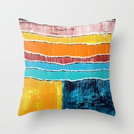 Beach Active Balmy Blazing Blistering Breezy Carefree Clammy Cloudless Comfortable Cool Dank Throw Pillow