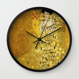 Portrait of A. Bloch-Bauer I by Gustav Klimt Wall Clock