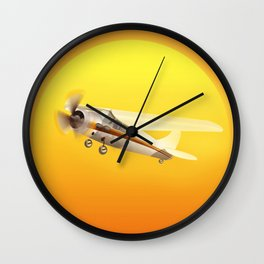 Bright Yellow Sun Wall Clock