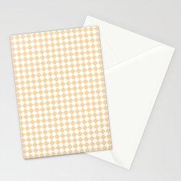 Small Diamonds - White and Sunset Orange Stationery Cards