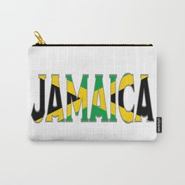 Jamaica Flag Font Carry-All Pouch