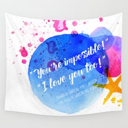 "Percy Jackson Percabeth House of Hades ""I love you too!"" Quote Wall Tapestry"