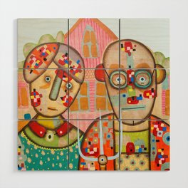 The American Gothic Wood Wall Art