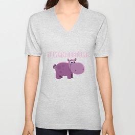 Sweet Hippo Costume Saying Unisex V-Neck