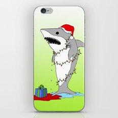 Santa Shark iPhone Skin