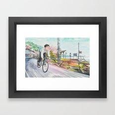 Bicycle Boy 04 Framed Art Print