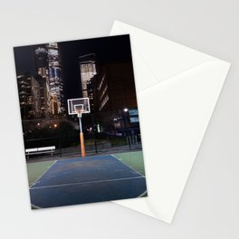 Basketball court New York City Stationery Cards