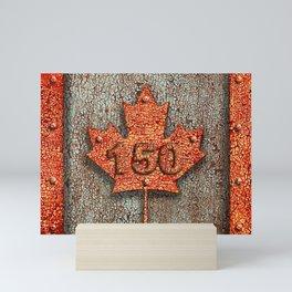 Iron Maple Leaf. Mini Art Print