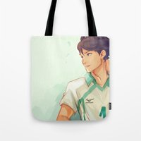 viria Tote Bags featuring Oikawa by viria