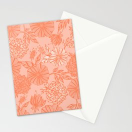Romantic flowers Stationery Cards