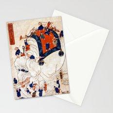 Japanese Ukiyo-e Children Exploring an Elephant Stationery Cards