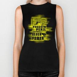 Yellow Peril Supports Black Power Biker Tank